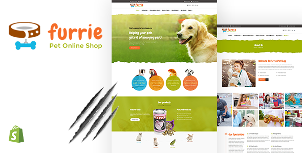 Furrie | Pet Shop, Sectioned Shopify Theme