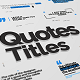 Just Type   Quote Titles - VideoHive Item for Sale