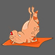 Set of Vector Cartoon Illustrations Essential Yoga Poses for Cats. - GraphicRiver Item for Sale
