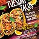 Tacos Mexico Restaurant Flyer - Set of 3 Templates - GraphicRiver Item for Sale