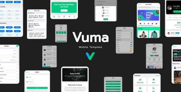 Vuma - Mobile Template