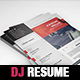 Dj / Musician OnePage Press Kit / Resume Template - GraphicRiver Item for Sale