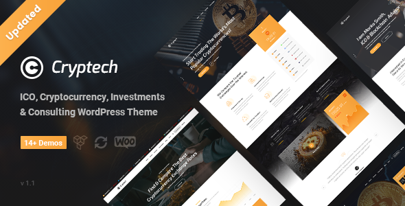 Cryptech - ICO and Cryptocurrency WordPress Theme