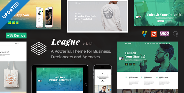 League - A Powerful Theme for Business, Freelancers and Agencies