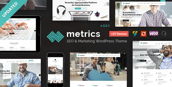 Metrics - SEO, Digital Marketing, Social Media WordPress Theme