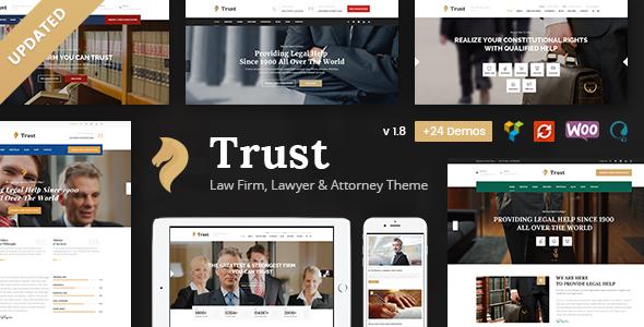 Trust Business - Lawyer and Attorney WordPress Theme