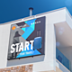 4 Square Billboards Photorealistic Mockups - GraphicRiver Item for Sale