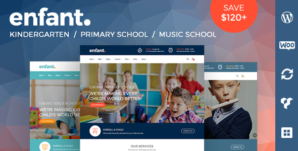 Enfant - School and Kindergarten WordPress Theme