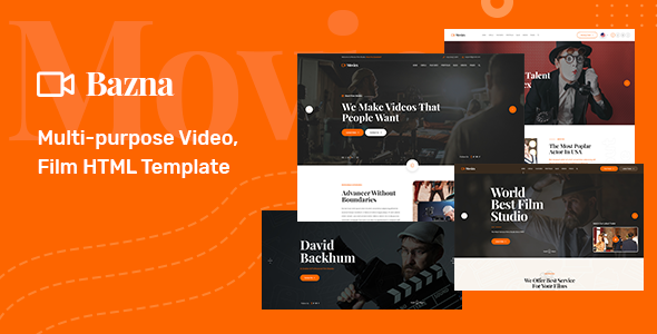 Bazna - Multipurpose Film Maker & Video HTML5 Template