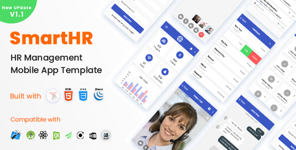 SmartHR - HR, Payroll, Project & Task Management Mobile App Template - Framework7