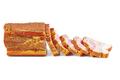 Sliced smoked ham piece isolated on white background - PhotoDune Item for Sale