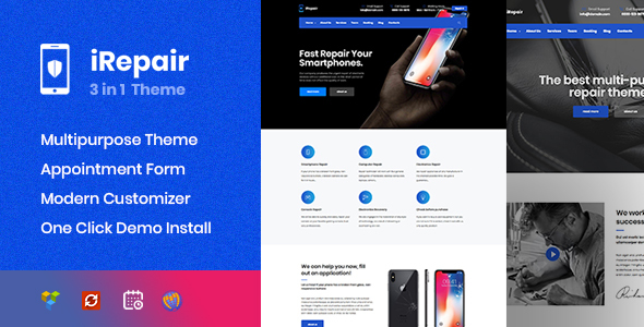 iRepair - Mobile Repair Theme