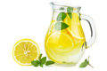Glass jug with lemon water (or alcohol), slices and mint - PhotoDune Item for Sale