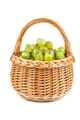Gooseberries in wicker basket isolated on white background - PhotoDune Item for Sale