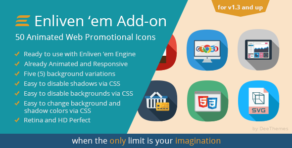 Enliven 'em Premium Add-on: Web Promotional Icons