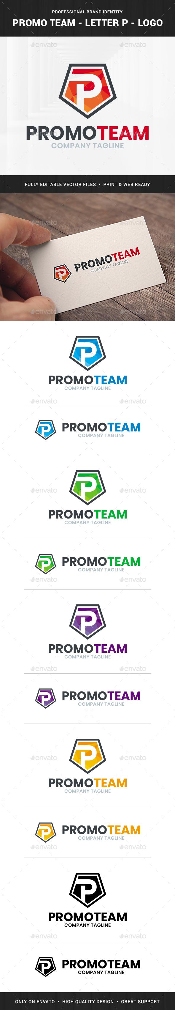 Promo Team - Letter P Logo