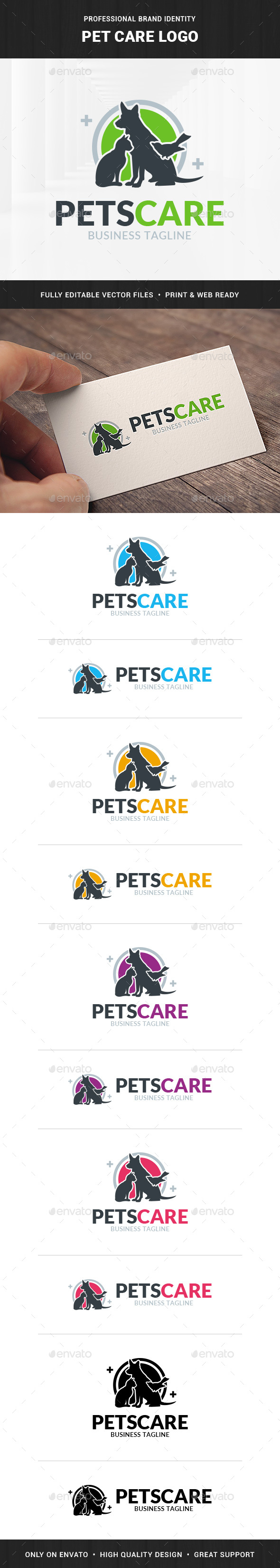 Pet Care Logo Template