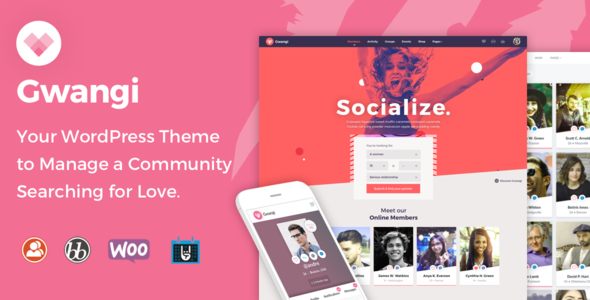 Gwangi - Dating & Matchmaking Community Theme