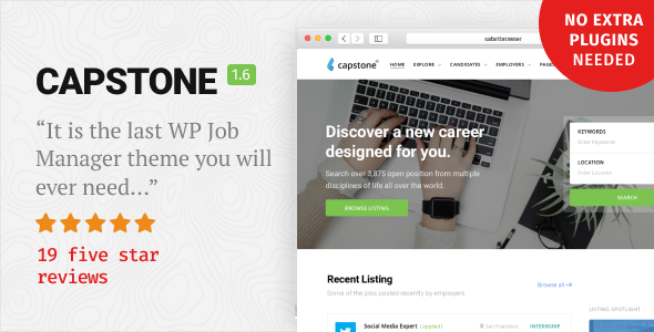 Capstone: Job Board WordPress Theme