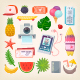 Set of Summer Icons - GraphicRiver Item for Sale