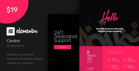 Cardea - Elementor One Page WordPress Theme