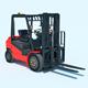 Warehouse Equipment: Gasoline Forklift - 3DOcean Item for Sale