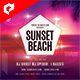 Sunset Beach 4x4 Inch Flyer Template - GraphicRiver Item for Sale