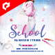School Fashion 4x4 Inch Flyer Template - GraphicRiver Item for Sale