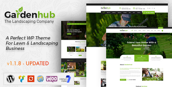 Garden HUB - Lawn & Landscaping WordPress Theme