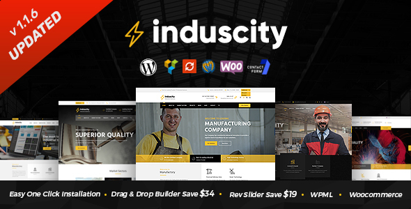 Induscity - Factory and Manufacturing WordPress Theme