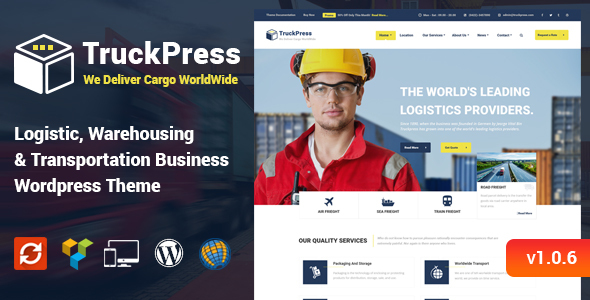 TruckPress - Logistics & Transportation WP Theme