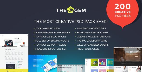 TheGem - kreatywny, wielofunkcyjny szablon PSD