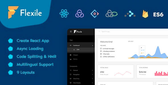 React Redux Website Templates from ThemeForest