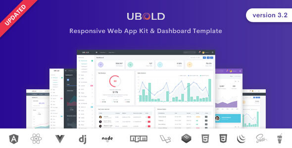 Ubold Admin - Bootstrap 4 Admin Dashboard Template with Angular, React, Vue Seeds