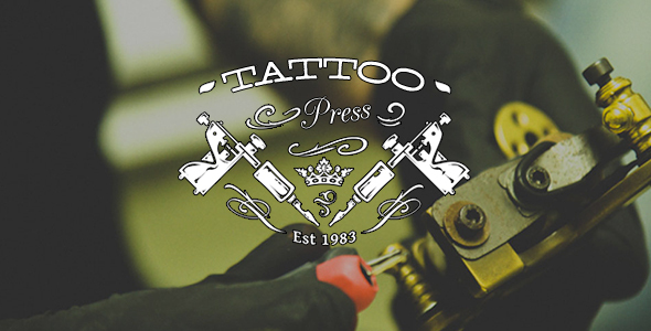 TattooPress - A Wordpress Theme for Ink Artists Download