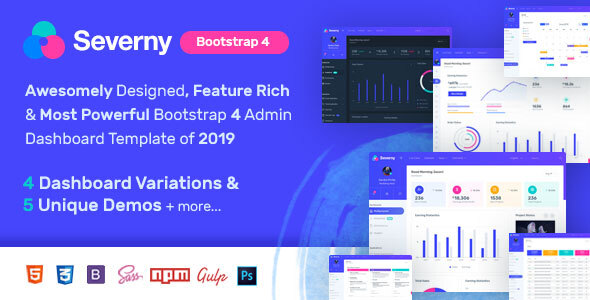 Severny - Bootstrap 4 Admin Template