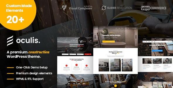 Oculis - Construction & Building WordPress Theme