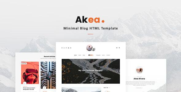 Akea – Minimal Blog HTML Template Free Download