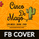 Cinco De Mayo Facebook Cover-2 Design- Image Included - GraphicRiver Item for Sale