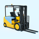 Warehouse Equipment: Electric Forklift - 3DOcean Item for Sale