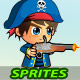 Pirate 2D Game Character Sprites - GraphicRiver Item for Sale