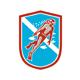 Scuba Diver Diving Going Up Shield Retro - GraphicRiver Item for Sale
