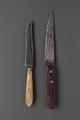 old battered knifes sorted on gray background - PhotoDune Item for Sale