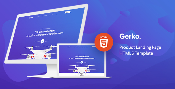 Gerko - Product Landing Page Template with Bootstrap