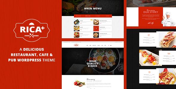 Rica - A Delicious Restaurant, Cafe & Pub WP Theme