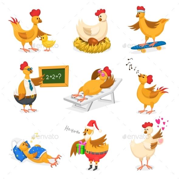 Chicken Vector Cartoons