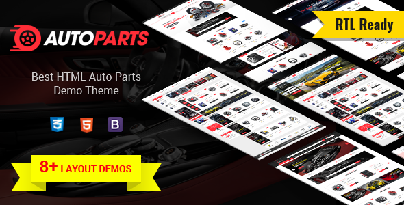 AutoParts  - Tools, Equipments and Accessories Store HTML Template