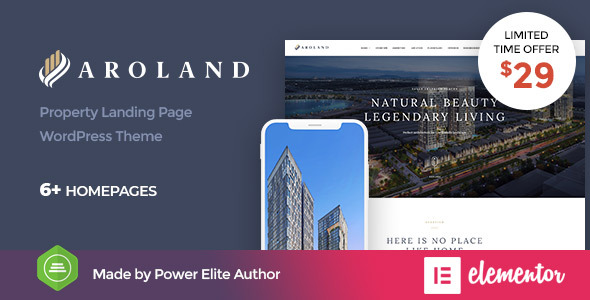 Aroland – Single Property Landing Page WordPress Theme Free Download