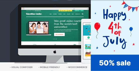 Education Center   Training Courses WordPress Theme