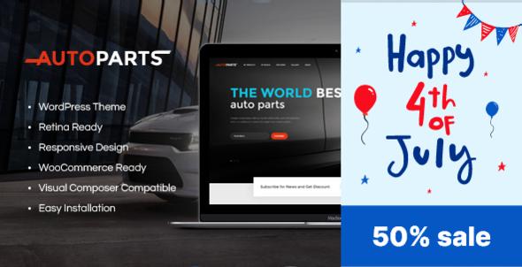 Car Parts Store & Auto Services WordPress Theme